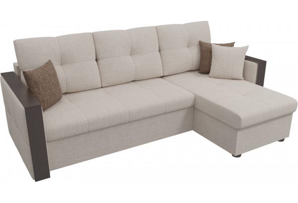 Угловой диван Валенсия Бежевый (Рогожка) - фото 4