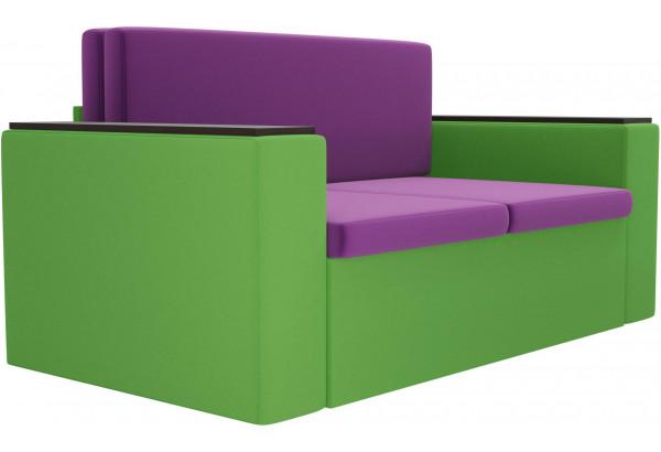 Детский диван Арси фиолетовый/зеленый (Микровельвет) - фото 3