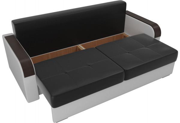Прямой диван Мейсон Черный/Белый (Экокожа) - фото 5