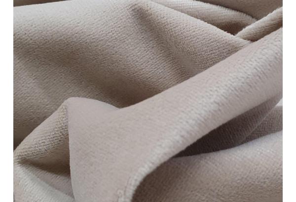 Прямой диван аккордеон Сенатор бежевый/коричневый (Велюр/Экокожа) - фото 8