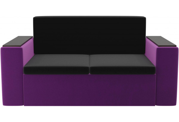 Детский диван Арси черный/фиолетовый (Микровельвет) - фото 2