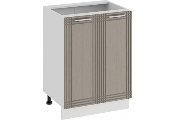 Шкаф напольный с двумя дверями «Ольга» (Белый/Кремовый) - фото 1