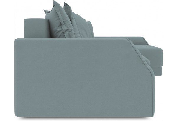 Диван угловой правый «Люксор Slim Т2» (Poseidon Lagoon (иск.замша) бледно-бирюзовый) - фото 3