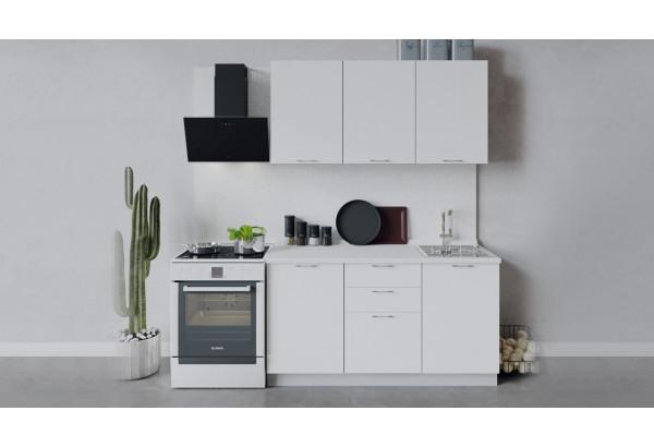 Кухонный гарнитур «Весна» длиной 150 см (Белый/Белый глянец) - фото 1