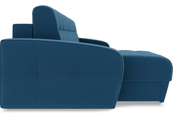 Диван угловой левый «Аспен Т1» Beauty 07 (велюр) синий - фото 4