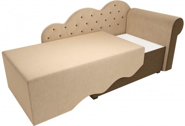 Детская кровать Тедди-1 бежевый/коричневый (Микровельвет) - фото 3