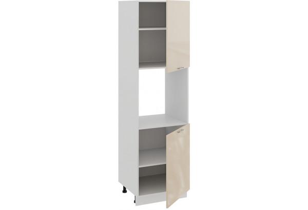 Шкаф-пенал под бытовую технику с двумя дверями «Весна» (Белый/Ваниль глянец) - фото 2