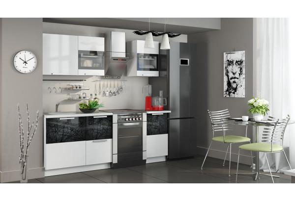 Кухонный гарнитур длиной - 210 см Фэнтези (Белый универс)/(Лайнс) - фото 2