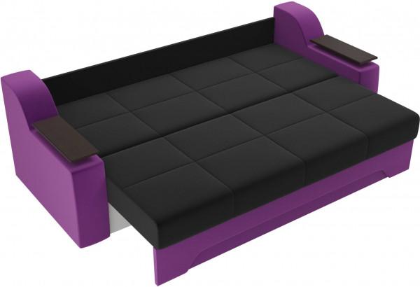 Диван прямой Сенатор черный/фиолетовый (Микровельвет) - фото 6