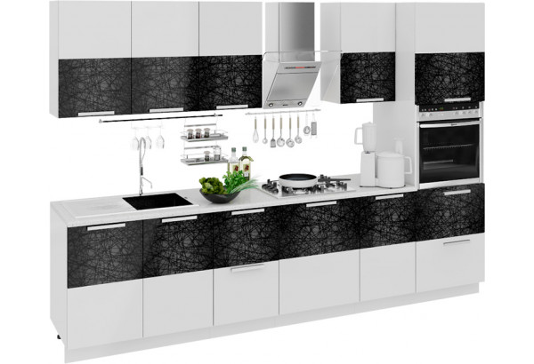 Кухонный гарнитур длиной - 300 см (с пеналом ПБ) Фэнтези (Лайнс) - фото 1