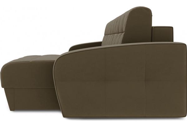Диван угловой правый «Аспен Slim Т1» (Beauty 04 (велюр) коричневый) - фото 4