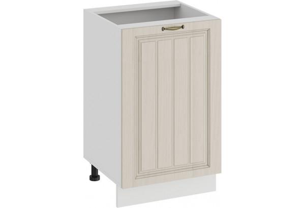 Шкаф напольный с одной дверью «Лина» (Белый/Крем) - фото 1
