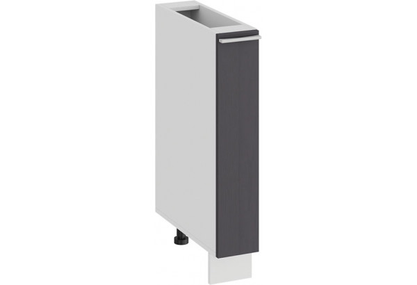 Шкаф напольный с выдвижной корзиной «Ольга» (Белый/Графит) - фото 1