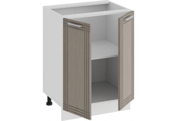 Шкаф напольный с двумя дверями «Ольга» (Белый/Кремовый) - фото 2