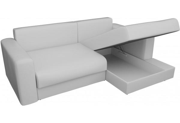 Угловой диван Мэдисон Белый (Экокожа) - фото 6