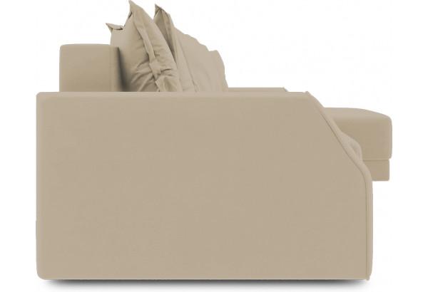 Диван угловой правый «Люксор Slim Т1» (Poseidon Latte (иск.замша) коричнево-бежевый) - фото 3