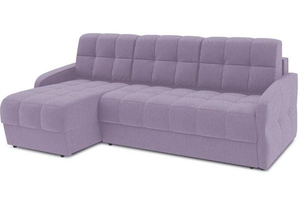 Диван угловой левый «Аспен Slim Т1» (Neo 09 (рогожка) фиолетовый) - фото 1