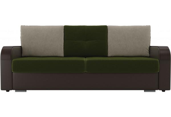 Прямой диван Мейсон зеленый/коричневый (Микровельвет/Экокожа) - фото 3