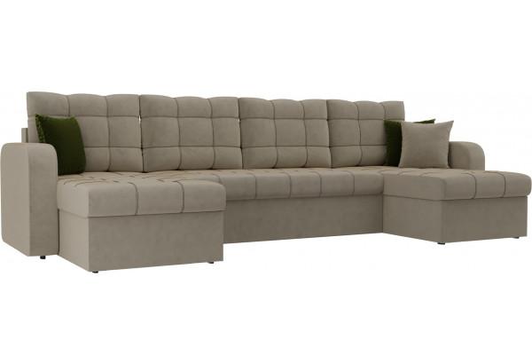 П-образный диван Ливерпуль Бежевый (Микровельвет) - фото 1
