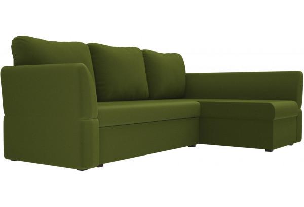 Угловой диван Гесен Зеленый (Микровельвет) - фото 3