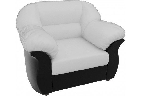 Кресло Карнелла Белый/Черный (Экокожа) - фото 4
