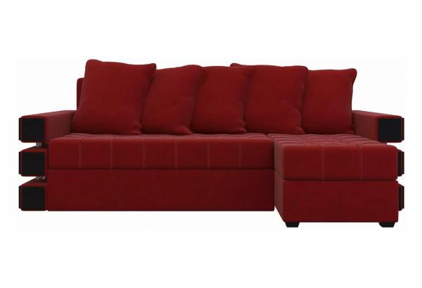 Угловой диван Венеция Красный (Микровельвет) - фото 2