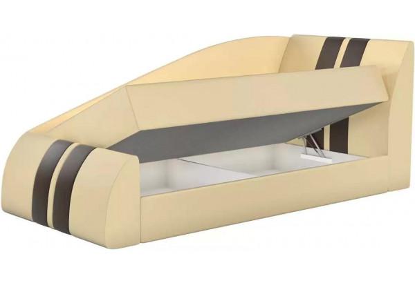 Детская кровать Мустанг Бежевый (Экокожа) - фото 2
