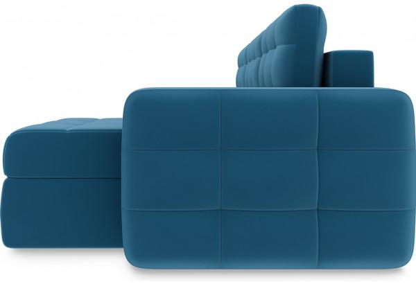 Диван угловой правый «Райс Т1» Beauty 07 (велюр) синий - фото 4