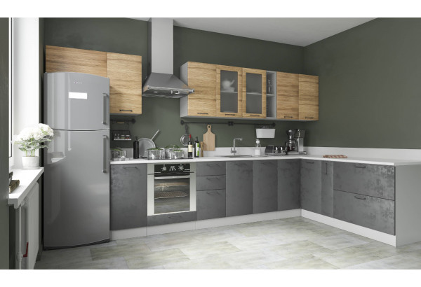"Кухня ""Лофт"" угловая 3,8 х 2,0 м (модульная система) - фото 1"