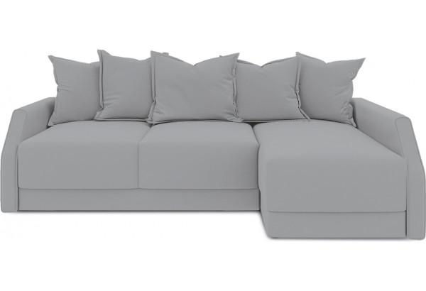 Диван угловой правый «Люксор Slim Т2» (Poseidon Grey (иск.замша) серый) - фото 2
