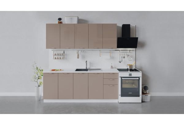 Кухонный гарнитур «Весна» длиной 200 см (Белый/Кофе с молоком) - фото 1