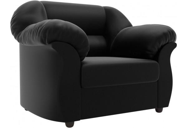 Кресло Карнелла Черный (Экокожа) - фото 1