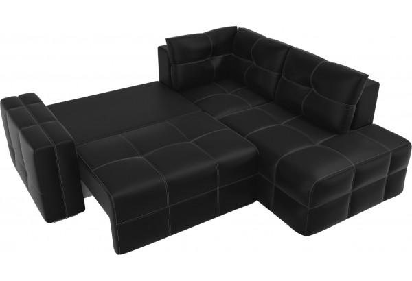 Угловой диван Леос Черный (Экокожа) - фото 6