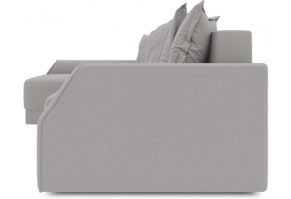 Диван угловой левый «Люксор Slim Т2» (Galaxy 06 (велюр) серый) - фото 3