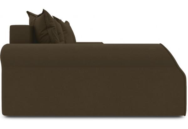 Диван угловой левый «Люксор Т2» Beauty 04 (велюр) коричневый - фото 4