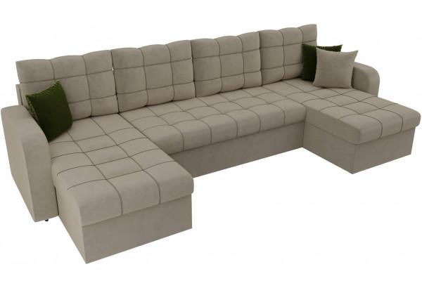 П-образный диван Ливерпуль Бежевый (Микровельвет) - фото 4