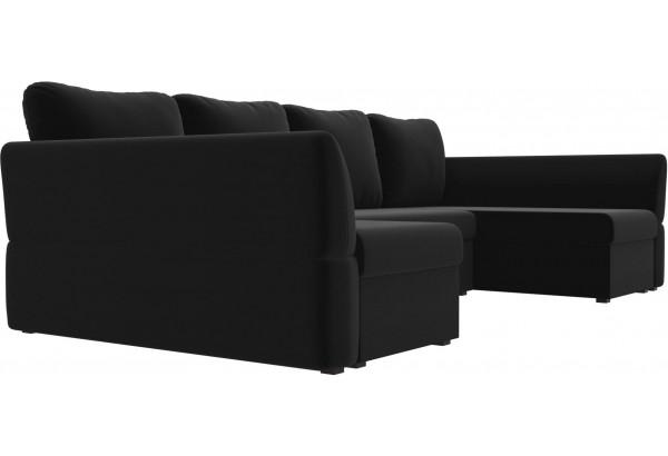 П-образный диван Гесен Черный (Микровельвет) - фото 3