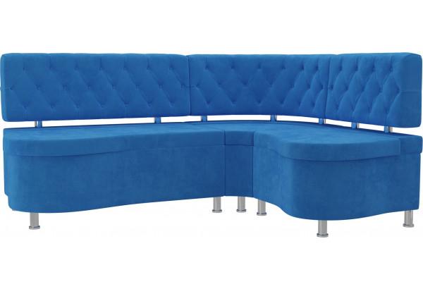 Кухонный угловой диван Вегас Голубой (Велюр) - фото 1