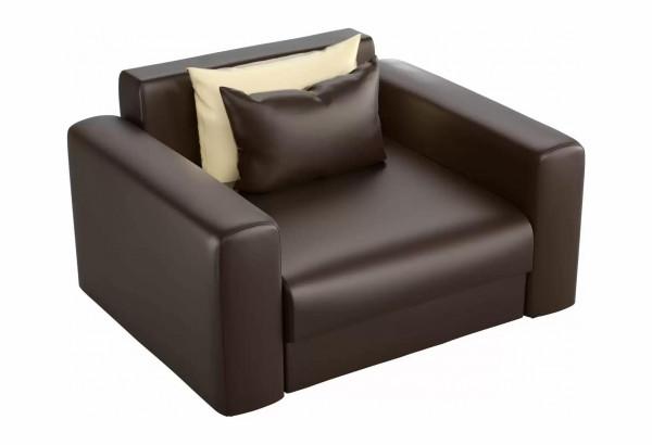 Кресло Мэдисон Коричневый (Экокожа) - фото 1