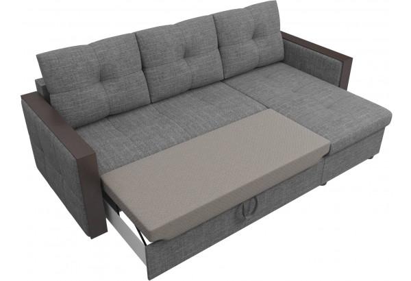 Угловой диван Валенсия Серый (Рогожка) - фото 6