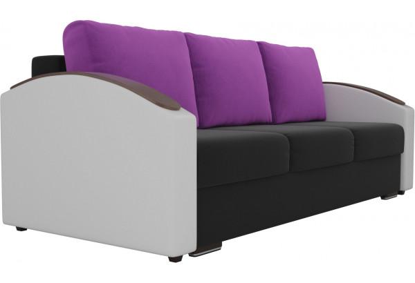Прямой диван Монако slide Черный/Белый (Микровельвет/Экокожа) - фото 3