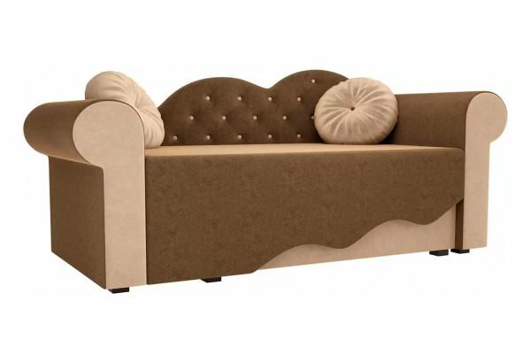 Детская кровать Тедди-2 Коричневый/Бежевый (Микровельвет) - фото 1