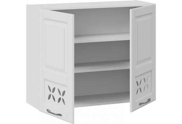 Шкаф навесной c декором (СКАЙ (Белоснежный софт)) - фото 2