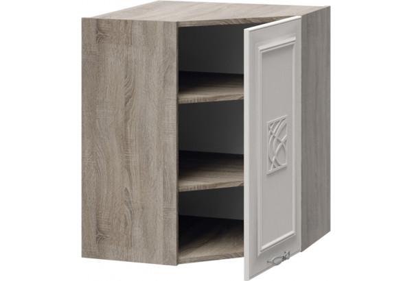 Шкаф навесной угловой с углом 45° с декором САБРИНА (Кашемир) - фото 3