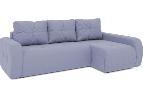 Диван угловой правый «Томас Т2» (Poseidon Blue Graphite (иск.замша) серо-фиолетовый) - фото 1