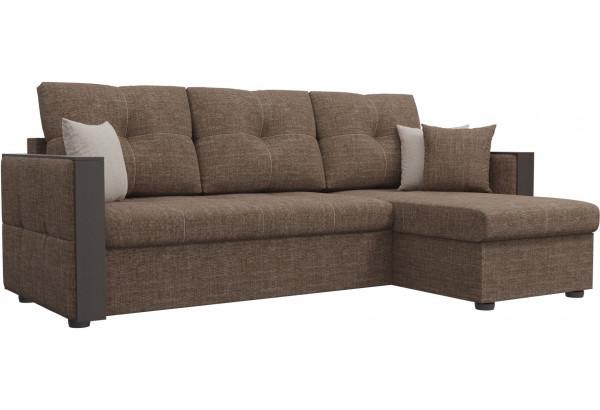 Угловой диван Валенсия Коричневый (Рогожка) - фото 1