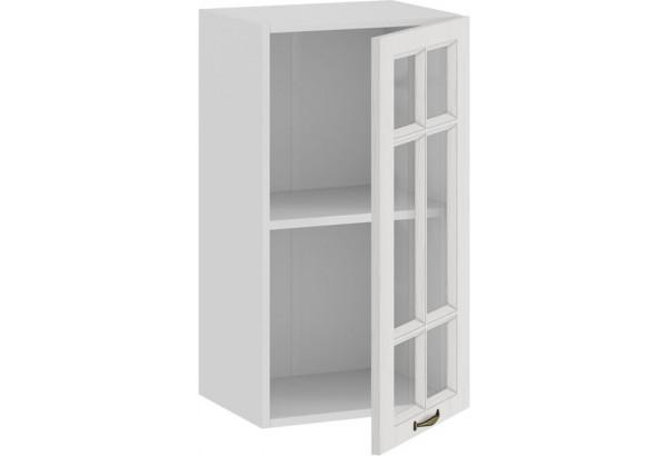 Шкаф навесной c одной дверью со стеклом «Лина» (Белый/Белый) - фото 2