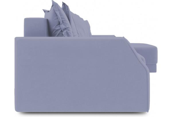 Диван угловой правый «Люксор Slim Т1» (Poseidon Blue Graphite (иск.замша) серо-фиолетовый) - фото 3