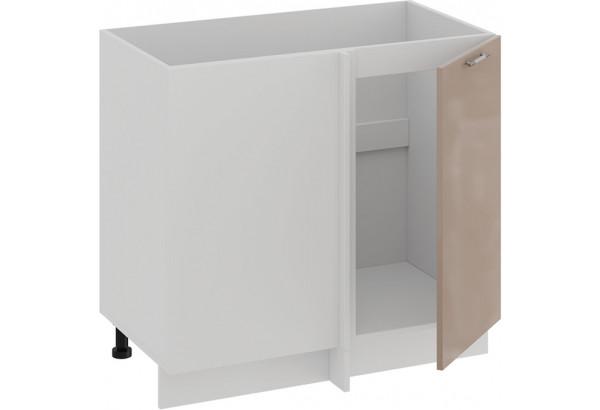 Шкаф напольный угловой «Весна» (Белый/Кофе с молоком) - фото 2