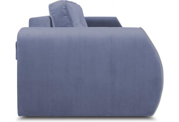 Диван «Хьюго» (Poseidon Blue Graphite (иск.замша) серо-фиолетовый кант Poseidon Grey (иск.замша) серый) - фото 3